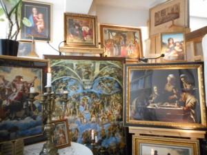 銀座書斎・「奥の聖域」では、ヨーロッパ、ルネッサンス期、及び、バロック期の数々の芸術作品を鑑賞することができます。
