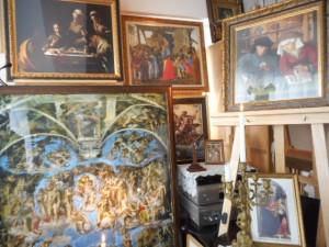 銀座書斎「奥の聖域」では、ルネサンス絵画・音楽、及び、バロック絵画・音楽をはじめ、数多くの西洋の芸術作品を鑑賞することができます。