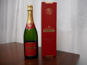 弟子のH.K.さんから、お歳暮として、フランス産の美味しいシャンペインもいただきました。